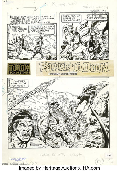 Alberto Giolitti Turok Son Of Stone 131 Complete Unpublished Lot 17978 Heritage Auctions