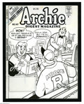 Original Comic Art:Covers, Stan Goldberg and Mike Esposito - Archie Digest Magazine #147 CoverOriginal Art (Archie, 1997). Archie and Moose discuss ro...