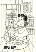 Original Comic Art:Covers, Western Publishing Artist - Little Lulu Cover Original Art(undated). Little Lulu plays doctor in this lighthearted scene,d...