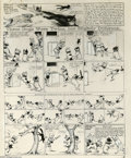 Original Comic Art:Miscellaneous, Richard F. Outcault - Buster Brown Sunday Comic Strip Stat(Newspaper Feature Syndicate, 1914). Buster Brown's dogs aretwin...