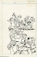 Original Comic Art:Covers, Scott Shaw! - Laff-A-Lympics #11 Cover Original Art (Marvel, 1978).Oh Wow! It's the Laff-A-Lympics... you must be in th...