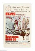 "Movie Posters:Elvis Presley, Easy Come Easy Go (Paramount, 1967). Window Card (14"" X 22"").Capturing buried treasure and women's hearts is the objective ...(1 )"