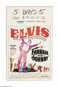 """Movie Posters:Musical, Frankie and Johnny (United Artists, 1966). Window Card (14"""" X 22""""). Elvis Presley (Johnny) stars along with Donna Douglas, o... (1 )"""