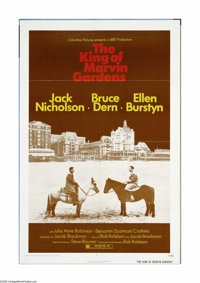 "The King of Marvin Gardens (Columbia, 1972). One Sheet (27"" X 41""). Offered here is an original poster for thi..."