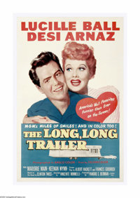 "The Long, Long Trailer (MGM, 1954). One Sheet (27"" X 41""). Lucille Ball and Desi Arnaz were at the height of t..."