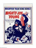 "Movie Posters:Adventure, Mighty Joe Young (RKO, R-1970s). Poster (20"" X 28""). Offered hereis an original poster for this fantasy adventure directed ... (1 )"