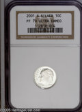 Proof Roosevelt Dimes: , 2001-S 10C Silver PR 70 Deep Cameo NGC. ...