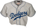 Baseball Collectibles:Uniforms, 1955 Johnny Podres Game Worn Brooklyn Dodgers Jersey - Photo Matched to Sports Illustrated Cover!. ...