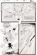 Original Comic Art:Panel Pages, Rob Liefeld and Hilary Barta New Mutants #91 Story Page 8Sabretooth Original Art (Marvel, 1990)....