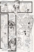 Original Comic Art:Panel Pages, Rob Liefeld, Art Thibert, and Joe Rubinstein New Mutants #96Story Page 7 Original Art (Marvel, 1990)....