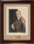 Autographs:Photos, Circa 1930 John McGraw Signed Oversized Photograph....