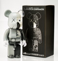 Fine Art - Sculpture, American:Contemporary (1950 to present), KAWS X BE@RBRICK. Dissected Companion 1000% (Grey), 2010.Painted cast vinyl. 28-1/4 x 13-3/4 x 9 inches (71.8 x 34.9 x ...