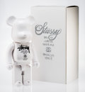 Fine Art - Sculpture, American:Contemporary (1950 to present), BE@RBRICK X Stussy. White Stussy 1000%, 2006. Painted castresin. 28 x 13-1/2 x 9 inches (71.1 x 34.3 x 22.9 cm). Stampe...