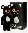Fine Art - Sculpture, American:Contemporary (1950 to present), BE@RBRICK X Roen. Roen Be@rbrick 1000%, 2009. Cast resinwith felt. 28-3/4 x 13-1/2 x 9 inches (73 x 34.3 x 22.9 cm). St...