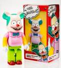 Fine Art - Sculpture, American:Contemporary (1950 to present), BE@RBRICK X The Simpsons. Krusty the Clown 1000%, 2016.Painted cast resin. 28 x 14 x 9 inches (71.1 x 35.6 x 22.9 cm). ...