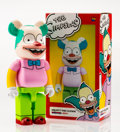 Fine Art - Sculpture, American:Contemporary (1950 to present), BE@RBRICK X The Simpsons. Krusty the Clown 400%, 2016.Painted cast resin. 10-1/2 x 5-1/4 x 3-1/2 inches (26.7 x 13.3 x...