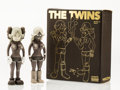 Fine Art - Sculpture, American:Contemporary (1950 to present), KAWS X Todd James. The Twins (Grey) (two works), 2006.Painted cast vinyl. 8 x 3 x 2 inches (20.3 x 7.6 x 5.1 cm)(each)...