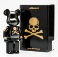 Fine Art - Sculpture, American:Contemporary (1950 to present), BE@RBRICK X mastermind JAPAN. Black and Gold 400%, 2013.Painted cast resin. 10-1/2 x 5-1/4 x 3-1/2 inches (26.7 x 13.3 ...