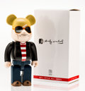 Fine Art - Sculpture, American:Contemporary (1950 to present), BE@RBRICK X Andy Warhol Foundation. 60's Style 400%, 2015.Painted cast vinyl. 10-3/4 x 5-1/4 x 3-1/2 inches (27.3 x 13....