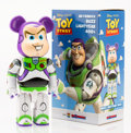 Fine Art - Sculpture, American:Contemporary (1950 to present), BE@RBRICK X Disney. Buzz Lightyear 400%, from ToyStory, 2015. Painted cast resin. 10-1/2 x 5-1/4 x 3-1/2 inches(26...