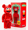 Fine Art - Sculpture, American:Contemporary (1950 to present), BE@RBRICK X Sesame Street. Elmo 400%, 2016. Painted castvinyl. 10-1/2 x 5-1/4 x 3-1/2 inches (26.7 x 13.3 x 8.9 cm). St...