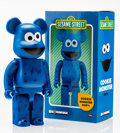 Fine Art - Sculpture, American:Contemporary (1950 to present), BE@RBRICK X Sesame Street. Cookie Monster 400%, 2016.Painted cast vinyl. 10-1/2 x 5-1/4 x 4-1/4 inches (26.7 x 13.3 x1...