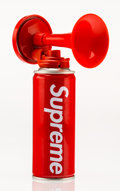 Fine Art - Sculpture, American:Contemporary (1950 to present), Supreme . Air Horn (Red), 2015. Aluminum can and plasticattachment. 6-1/4 x 4-1/2 x 2 inches (15.9 x 11.4 x 5.1 cm). ...