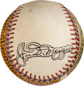 Autographs:Baseballs, 1955 Joe DiMaggio Original Folk Art Single Signed Baseball byGeorge Sosnak Honoring DiMaggio's Induction Into the Baseball Ha...
