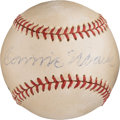 Autographs:Sports Cards, 1954 Connie Mack Single Signed Baseball with Mack FamilyProvenance....