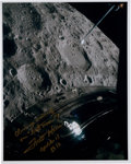 "Autographs:Celebrities, Fred Haise Signed Apollo 13 ""Lost Moon"" Color Photo...."