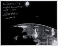 Autographs:Celebrities, Fred Haise Signed Apollo 13 Lost Moon and Crippled Service ModulePhoto. ...