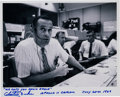 Autographs:Celebrities, Charlie Duke Signed Photo as Apollo 11 CapCom with Famous Quote....