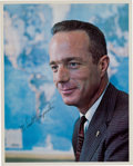 Autographs:Celebrities, Scott Carpenter Signed Early Business Suit Pose Color Photo. ...