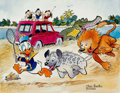 Memorabilia:Disney, Carl Barks Help! Help! Our Unca Donald is Number Two In a FoodChain Signed Limited Edition Print #4/300 (Carl Bar...