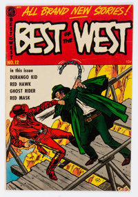 Best of the West #12 Mile High Pedigree (Magazine Enterprises, 1953) Condition: VF-