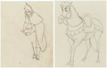Animation Art:Production Drawing, Sleeping Beauty Prince Phillip and Horse Matched AnimationDrawings Group of 2 (Walt Disney, 1959).... (Total: 2 Items)