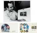 Autographs:Celebrities, Paul Calle Signed Photo and Two Signed Covers. ... (Total: 3 )