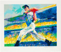 "Baseball Collectibles:Others, 1998 ""The DiMaggio Cut"" Signed LeRoy Neiman Serigraph. ..."
