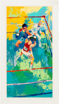 Olympic Collectibles:Autographs, 1980 Olympic Boxing LeRoy Neiman Signed Serigraph. . ...