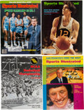 Basketball Collectibles:Programs, 1972-81 Collection of College Basketball Coaching Greats Signed Magazines Lot of Four with Extras. . ...
