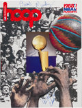 Basketball Collectibles:Programs, 1988 NBA Playoffs Multi-Signed Program with Wilt Chamberlain - Obtained Before Game 6 of NBA Finals. . ...