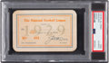 Football Collectibles:Tickets, 1929 National Football League Season Pass from The Joe Carr Find. . ...
