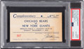 Football Collectibles:Tickets, 1933 NFL Championship Complimentary Pass from The Joe Carr Find.. ...