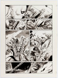 Original Comic Art:Panel Pages, Joe Staton and Sonny Trinidad Deadly Hands of Kung Fu #31 Story Page 21 Iron Fist, White Tiger, and Shang-Chi Orig...