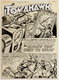 Original Comic Art:Splash Pages, Fred Ray and Jack Burnley Tomahawk #32 Splash Page OriginalArt (DC Comics, 1955)....