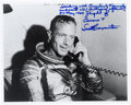 Autographs:Celebrities, Scott Carpenter Signed Photo on Phone with JFK, with Extensive Handwritten Description. ...