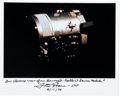 Autographs:Celebrities, Fred Haise Signed Apollo 13 Damaged Service Module Color Photo. ...