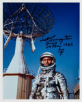 Explorers:Space Exploration, Scott Carpenter Signed Silver Spacesuit Color Photo. ...