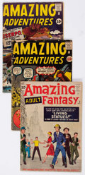Silver Age (1956-1969):Science Fiction, Amazing Adventures and Amazing Adult Fantasy Group of 5 (Marvel,1961-62).... (Total: 5 Comic Books)