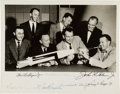 Autographs:Celebrities, Mercury Seven Astronauts: Early NASA Group Photo Signed by All,Originally from the Collection of McDonnell's Robert McLean....